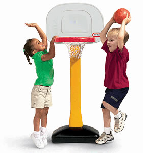Give your child endless fund and exercise with the Little Tikes TotSports Easy Score Basketball Set. Toddlers of all sizes can participate with this adjustable basketball hoop.